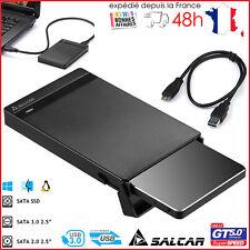 "Boîtier Disque Dur 2.5"" SSD/HDD Adaptateur USB 3.0  SATA 9.5mm SLIM +5 GB/S"