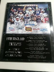New England Patriot 6x Super Bowl Champs statistics plaque - New Lower Pricing!!