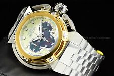 Invicta 46mm Coalition Forces Wide Lug High Polish Gold Silver MOP Chrono Watch