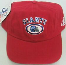 29059dc6c3746e NFL New York Giants Red Vintage Relaxed Fit Adjustable Hat By LogoAthletic