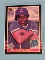1985 Donruss #41 Billy Hatcher Rc Signed Auto Autograph CARD Chicago Cubs