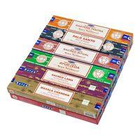 ⭐ 12 Variety Pack Satya Genuine Nag Champa Incense Sticks Joss 15g Mixed Scents