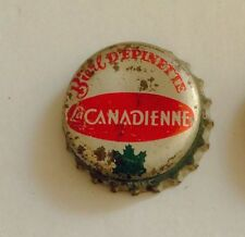 Biere D Epinette Quebec SODA cone crown cap CANADA bottle top can flat acl label