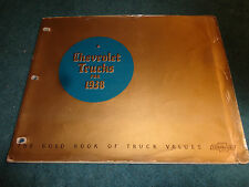 1938 CHEVROLET TRUCK DEALER ALBUM / RARE ORIGINAL DEALERSHIP SALES TOOL!  PICKUP