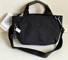 NEW! KIPLING SUGAR S II BLACK NOIR MINI CONVERTIBLE CROSSBODY SLING HANDBAG BAG