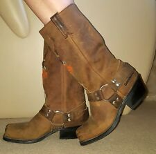 HARLEY DAVIDSON Western Cowboy Ankle Boots SIZE UK4