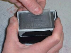 Replacement Self-Inking Stamp Text Plate