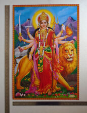 Durga Bhavani Maa with Lion - POSTER (Big Size 20 x 28 Inches)