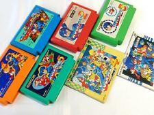 Nintendo Famicom FC (NES) RockMan(Megaman) series 5 game cartridge set/tested-L-