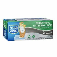 Fresh Step Drawstring Large Litter Box Liners | Heavy Pack of 1 Unscented Jumbo