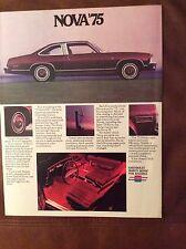 1975 Chevy Nova Sales Brochure