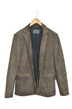 **AWESOME* AllSaints Mens subtly distressed DOVER Suede Jacket SMALL Leather