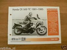MVE40- HONDA CX500TC TURBO 1981-1985  MINI POSTER AND INFO MOTORCYCLE,MOTORRAD