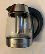 Chefman Glass Water Tea Kettle with Infuser - Stainless Steel - Used