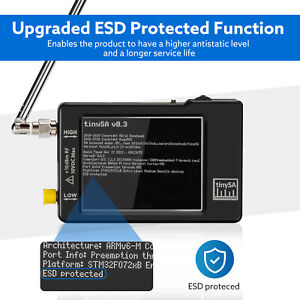 "Handheld Mini Spectrum Analyzer TinySA 2.8"" LCD 100kHz to 350MHz Touch Controls"