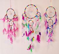 Dream Catcher with feather Wall Hanging Ornament Home Decor colourful rainbow