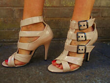 DOROTHY PERKINS womens ladies beige heels strappy shoes party occasion size 7 41