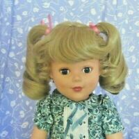 Playhouse SAMMY  Blond Full Cap Doll Wig Size 12-13 Curly Ponytails