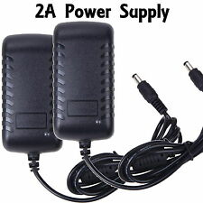 2 DC 12V 2A AC Adapter Power Supply Transformer for 5050 5630 3528 LED Stri