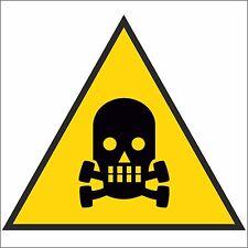 10 ADESIVI segnaletica PERICOLO DI MORTE 120x120mm. 10 Danger of death stickers