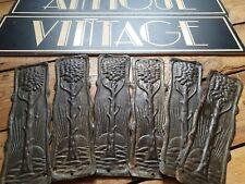 antique old Vintage reclaimed copper tin art noveau door finger push plate