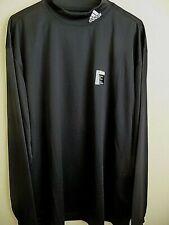 6618a94e Golf Adidas Performance Long Sleeve Mock Shirt XL Black NWT
