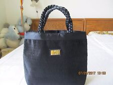 NEW NO TAGS WOMEN EVENING HANDBAG BLACK BY NaRaYa 100% POLYESTER MADE THAILAND