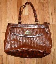 Coldwater Creek Brown Faux Croc Briefcase/Laptop/Handbag/Tote Bag