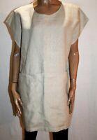 AT PIECE Brand Beige Linen Front Pocket Tunic Dress Size M/L BNWT #AN02