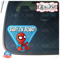 "Baby Spiderman ""BABY ON BOARD"" Sign Vinyl Decal Sticker for Cars/Trucks"