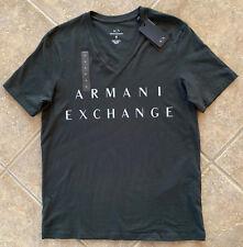Armani Exchange A x Classic Minimal Logo V Neck T Shirt Slim L Dark Olive