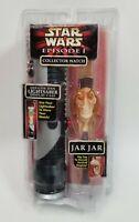 Star Wars Episode 1 Jar Jar Binks Collector Watch w/ Light Saber Display Case