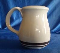"Vintage MCCOY POTTERY SUGAR SHAKER TAN & BROWN STRIPE LARGE 4 3/4"" TALL"