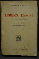 Giovanni Ruffini, LORENZO BENONI, Edizioni A. Barion, 1935.