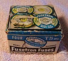 VINTAGE 1963 FUSETRON FUSES T-25 - 25 amp