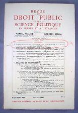 REVUE DU DROIT PUBLIC ET DE LA SCIENCE POLITIQUE / N°2 MARS-AVRIL 1961