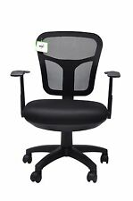 Mesh Office Chair Adjustable Computer Study Desk Executive Fabric Swivel - Black