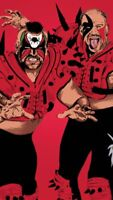 Legion of Doom Wrestling Art Glossy Print 8x10 WWF WCW Hawk Animal Road Warriors