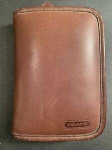 Vintage Coach Palm Pilot Case Brown
