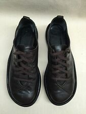 ROBERT CLERGERIE France Leather Platform Oxford  Dark Brown  5 B