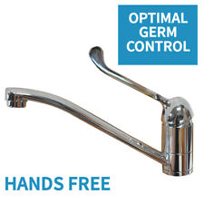 Hands Free Sink Basin Mixer Tap with Extended Lever, Hygienic Hand Washing