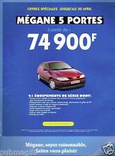 Publicité advertising 1997 Renault Megane