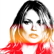 KATE MOSS COLOR LINES MR CLEVER mr brainwash banksy shepard fairey dolk pop art