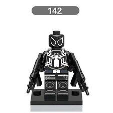 Agent Venom Spider Man minifigure custom toy With Lego Sticker Movie