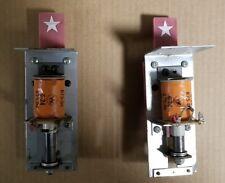 Lot of 2 Williams Pinball Single Drop Target Assemblies - For Parts or Repair