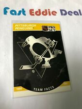 PRO SET NHL HOCKEY 1990 PITTSBURGH PENGUINS TEAM FACTS CARD 580 EXCELLENT