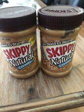 2 Jars Skippy NATURAL Creamy Peanut Butter Spread 15 oz No Need To Stir