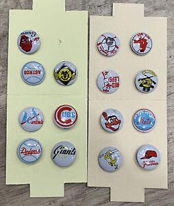 15 Lot Vintage 1950s MLB Baseball Team Logo Buttons Made in Japan Cubs Senators