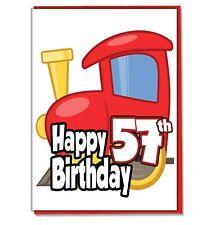 Juguete Tren 57th Tarjeta Cumpleaños - Hombre Hijo Marido Amigo Brother