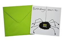 NEW BIRTHDAY CARD: SPIDER, green envelope!